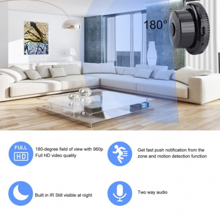 720P WiFi IP Camera IR Night Vision Two-way Audio Wide Angle Smart Home Securit