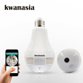 1.3MP 360 Degree WiFi Bulb Light Camera Panoramic Wi-Fi Lamp IP Camera Fisheye Home