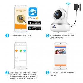 1080P IP Camera WIFI CCTV Video Surveillance P2P Home Security cloud/TF card storag