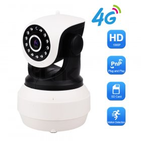3G 4G Sim Card IP Camera 1080P HD PTZ Pan Tilt Video Camera GSM P2P Network Wireless