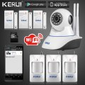 Kerui IP Camera Smart Home Intruder Alarm System Wireless Wifi 720P GSM SMS Securit