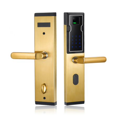 Biometric Electronic Smart Door Lock Fingerprint 4 Cards 2 Mechanical Keys Keyless