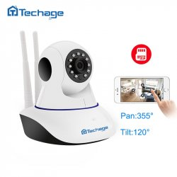 Techage Home Security 720P 1080P Wifi IP Camera Audio Record SD Card P2P HD CCTV