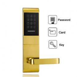 Zinc Alloy Security Electronic Door Lock Smart Digital Touch Screen Keypad Combinati