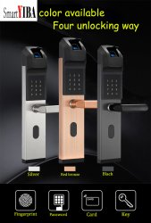 SmartYIBA Smart Door Lock Intelligent Biometric Fingerprint Lock Keyless Fingerprint