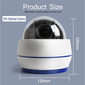 Anpviz 1080P 5X HD Wireless PTZ mini Dome IP Camera Zooming videcam WIFI surveillanc