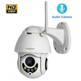 1080P 2MP PTZ IP Camera Home Security Wireless Wifi 4X Zoom Audio Camera HD IR Night