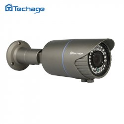 Techage H.265 Home Security 4MP POE IP Camera Outdoor 2.8mm-12mm Motorized Zoom