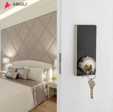 AIBOLI Card digital Smart lock touch screen lights up black electronic door lock