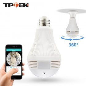 1.3MP Bulb Light Wireless IP Camera Panoramic Wi-Fi Lamp FishEye WIFI Camera 36