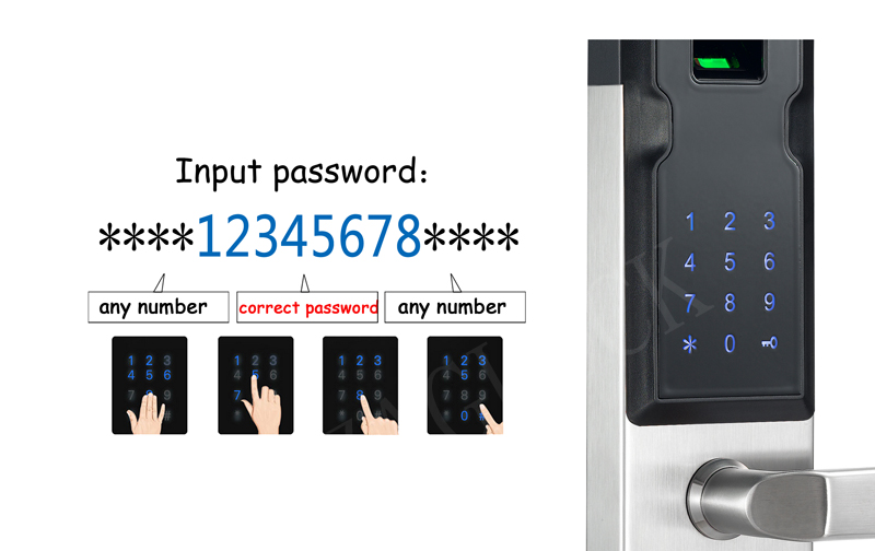 304 Stainless Steel Fingerprint Lock For Home Anti-theft Digital Electronic Smart Door Lock