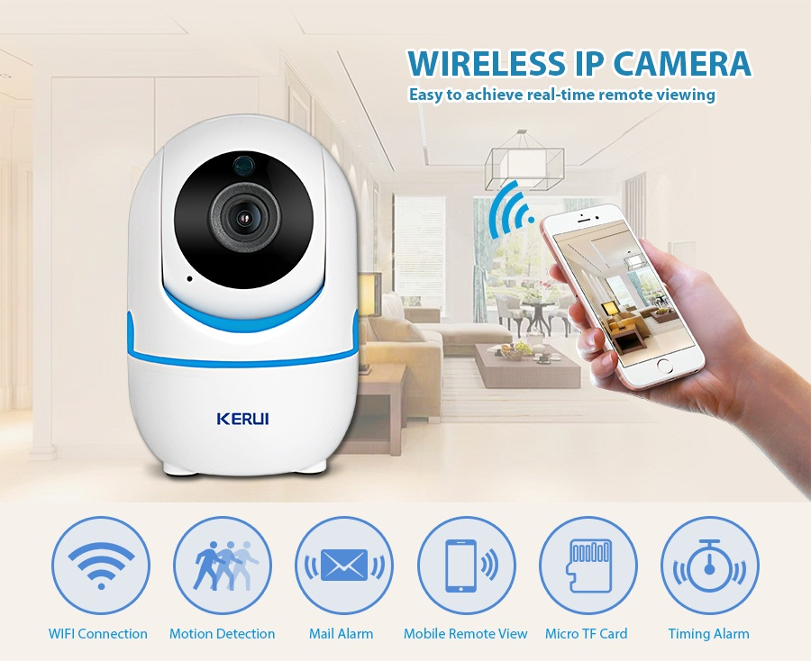 KERUI 720P 1080P Portable Small Mini Indoor Wireless Home Security WiFi IP Camera Surveillance Camera Night Vision CCTV Camera_07