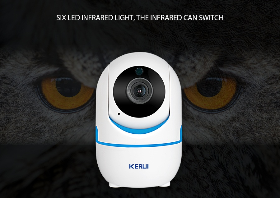 KERUI 720P 1080P Portable Small Mini Indoor Wireless Home Security WiFi IP Camera Surveillance Camera Night Vision CCTV Camera_08